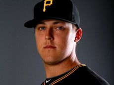 BRADENTON, FL - FEBRUARY 21:  Jameson Taillon #76 of the Pittsburgh Pirates poses for a portrait during the Pittsburgh Pirates Photo day on February 21, 2014 at Pirate City in Bradenton, Florida.  (Photo by Elsa/Getty Images)