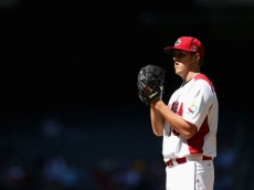 PHOENIX, AZ - MARCH 10:  Starting pitcher Jameson Taillon #18 of Canada pitches against USA during the World Baseball Classic First Round Group D game at Chase Field on March 10, 2013 in Phoenix, Arizona. USA defeated Canada 9-4  (Photo by Christian Petersen/Getty Images)