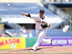 PITTSBURGH, PA - MAY 23:  Wilfredo Boscan #69 of the Pittsburgh Pirates delivers a pitch during the game against the Colorado Rockies at PNC Park on May 23, 2016 in Pittsburgh, Pennsylvania. (Photo by Justin Berl/Getty Images)
