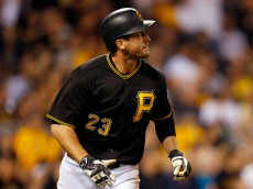 PITTSBURGH, PA - MAY 25:  David Freese #23 of the Pittsburgh Pirates hits a two run home run in the fifth inning during the game against the Arizona Diamondbacks at PNC Park on May 25, 2016 in Pittsburgh, Pennsylvania.  (Photo by Justin K. Aller/Getty Images)