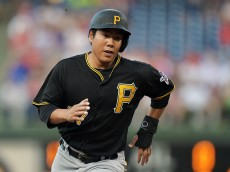 PHILADELPHIA, PA - MAY 11: Jung Ho Kang #27 of the Pittsburgh Pirates runs to third base in the second inning against the Philadelphia Phillies at Citizens Bank Park on May 11, 2015 in Philadelphia, Pennsylvania.  (Photo by Drew Hallowell/Getty Images)
