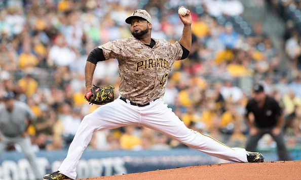 PITTSBURGH, PA - JULY 21:  Francisco Liriano #47 of the Pittsburgh Pirates delivers a pitch in the first inning during the game against the Milwaukee Brewers at PNC Park on July 21, 2016 in Pittsburgh, Pennsylvania. (Photo by Justin Berl/Getty Images)