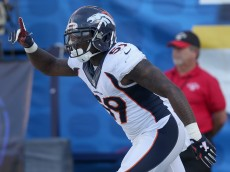SAN DIEGO, CA - DECEMBER 06:  Linebacker Danny Trevathan #59 of the Denver Broncos celebrates after returning his interception 25 yards for a touchdown in the first quarter against the San Diego Chargers at Qualcomm Stadium on December 6, 2015 in San Diego, California.  (Photo by Stephen Dunn/Getty Images)