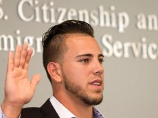 Jose Fernandez became a U.S. citizen last year and even gave the keynote address at the ceremony.