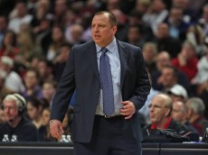 CHICAGO, IL - MARCH 18:  Head coach Tom Thibodeau of the Chicago Bulls watches as his team take on the Indiana Pacers at the United Center on March 18, 2015 in Chicago, Illinois. The Bulls defeated the Pacers 103-86. NOTE TO USER: User expressly acknowledges and agrees that, by downloading and or using this photograph, User is consenting to the terms and conditions of the Getty Images License Agreement.  (Photo by Jonathan Daniel/Getty Images)