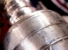 BOSTON, MA - JUNE 24: A view of the Stanley Cup is shown following the Chicago Blackhawks 3-2 win against the Boston Bruins in Game Six of the 2013 NHL Stanley Cup Final at TD Garden on June 24, 2013 in Boston, Massachusetts.  (Photo by Bruce Bennett/Getty Images)