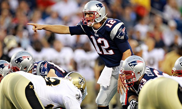 brady on the line saints