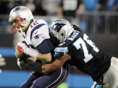 brady sacked panthers