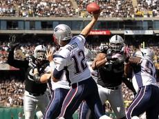 tom brady throwing raiders