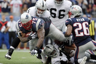 vince wilfork interception raiders