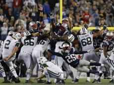 chris jones blocked field goal patriots jets