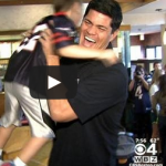 tedy bruschi with fan