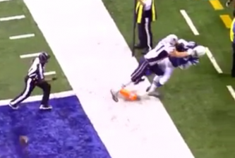 gronk tosses sergio brown