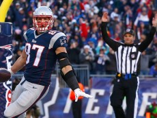 <> of the New England Patriots of the Miami Dolphins at Gillette Stadium on December 14, 2014 in Foxboro, Massachusetts.