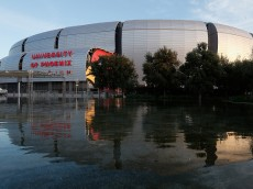 GLENDALE, AZ - DECEMBER 11:  General view of University of Phoenix Stadium on December 11, 2014 in Glendale, Arizona. Super Bowl XLIX will be held at the University of Phoenix Stadium on Febrauary 1, 2015.  (Photo by Christian Petersen/Getty Images)