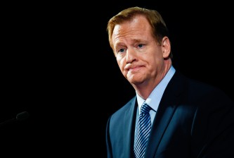 NEW YORK, NY - SEPTEMBER 19:  National Football League commissioner Roger Goodell speaks during a press conference on September 19, 2014 inside the New York Hilton Midtown in New York City. Goodell took the time to address personal conduct issues in the NFL.  (Photo by Alex Goodlett/Getty Images)