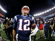during the AFC Divisional Playoff Game at Gillette Stadium on January 16, 2016 in Foxboro, Massachusetts.