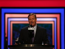 CHICAGO, IL - APRIL 28:  NFL Commissioner Roger Goodell speaks during the first round of the 2016 NFL Draft at the Auditorium Theatre of Roosevelt University on April 28, 2016 in Chicago, Illinois.  (Photo by Jon Durr/Getty Images)