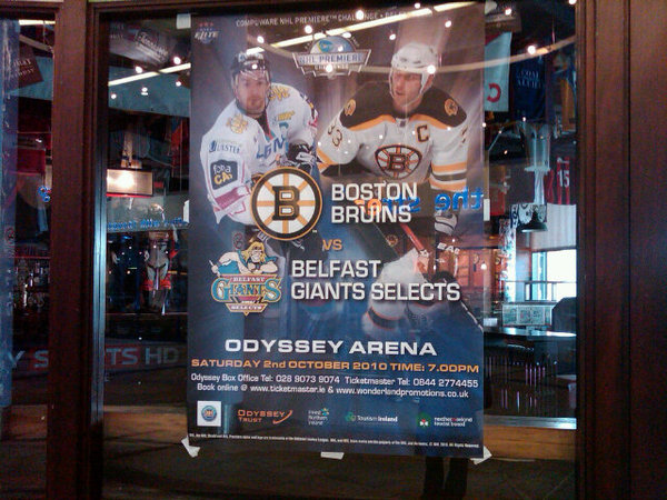 Belfast Giants vs. Boston Bruins poster