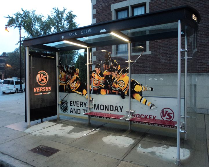Boston Bruins VERSUS bus shelter ad