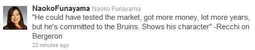 Noako Bergeron tweet