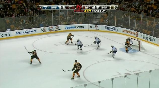 Recchi Miller goal Bruins 12/7/10