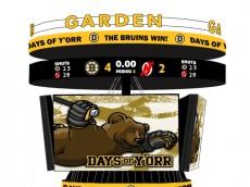 Bruins Devils Scoreboard