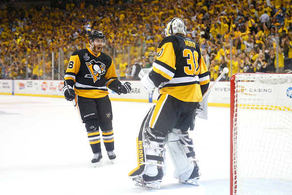 in Game One of the 2016 NHL Stanley Cup Final at Consol Energy Center on May 30, 2016 in Pittsburgh, Pennsylvania.