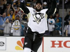 SAN JOSE, CA - JUNE 12:  Justin Schultz #4 of the Pittsburgh Penguins celebrates with the Stanley Cup after their 3-1 victory to win the Stanley Cup against the San Jose Sharks in Game Six of the 2016 NHL Stanley Cup Final at SAP Center on June 12, 2016 in San Jose, California.  (Photo by Christian Petersen/Getty Images)