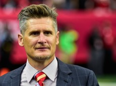 ATLANTA, GA - SEPTEMBER 07: Thomas Dimitroff, general manager of the Atlanta Falcons, stands on the field in the second half against the New Orleans Saints at the Georgia Dome on September 7, 2014 in Atlanta, Georgia.  (Photo by Scott Cunningham/Getty Images)