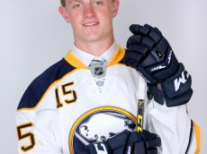 SUNRISE, FL - JUNE 26:  Second overall pick Jack Eichel of the Buffalo Sabres poses for a portrait during the 2015 NHL Draft at BB&T Center on June 26, 2015 in Sunrise, Florida.  (Photo by Mike Ehrmann/Getty Images)