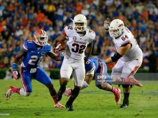 during the game at Ben Hill Griffin Stadium on October 5, 2013 in Gainesville, Florida.