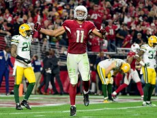 in the NFC Divisional Playoff Game at University of Phoenix Stadium on January 16, 2016 in Glendale, Arizona.