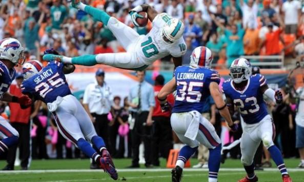 Brandon Gibson Leaping Touchdown