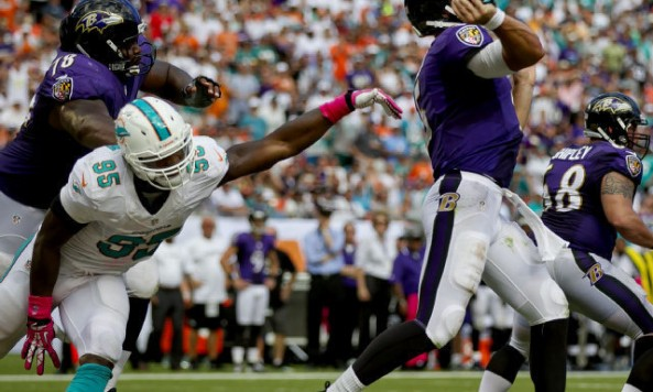 Dolphins defense vs Ravens
