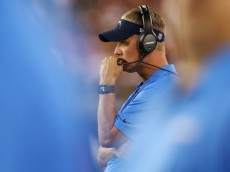 GLENDALE, AZ - SEPTEMBER 08:  Head coach Mike McCoy of the San Diego Chargers watches on during the NFL game against the Arizona Cardinals at the University of Phoenix Stadium on September 8, 2014 in Glendale, Arizona.  (Photo by Christian Petersen/Getty Images)
