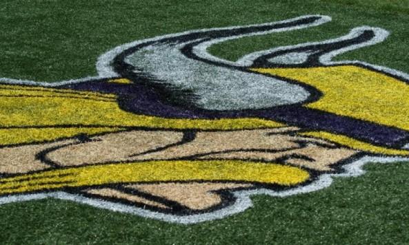 Vikings logo practice field 2012