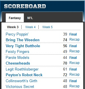 pjd fantasy league 2012 wk3 results