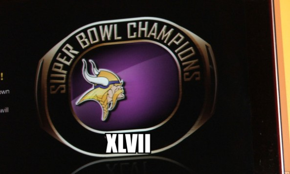 vikings super bowl champs XLVII