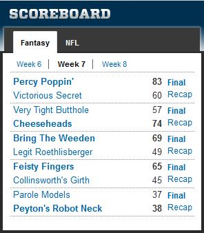 pjd fantasy football 2012 wk7 results