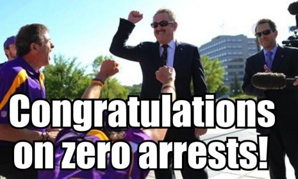 2012 zero arrests
