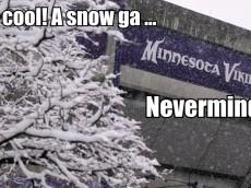 Vikings snow game