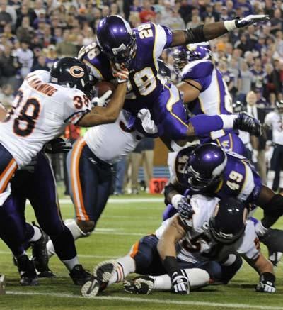 Adrian Peterson Vikings Bears