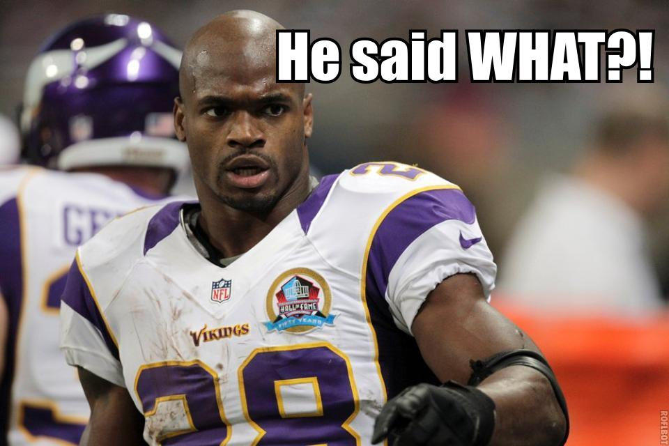 Adrian Peterson What?