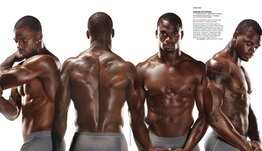 adrian peterson shirtless 2012