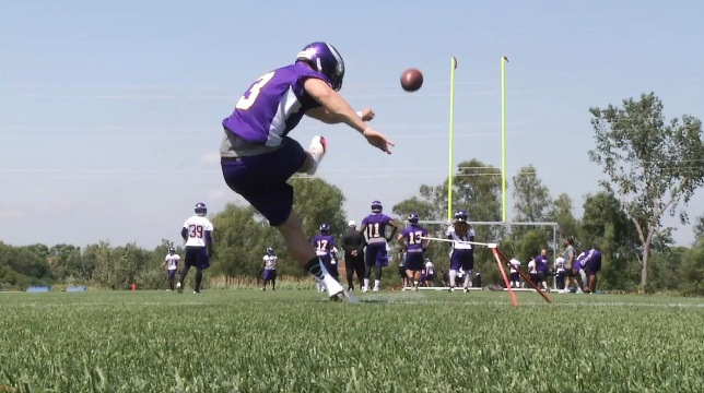 Blair Walsh Kicks at Camp
