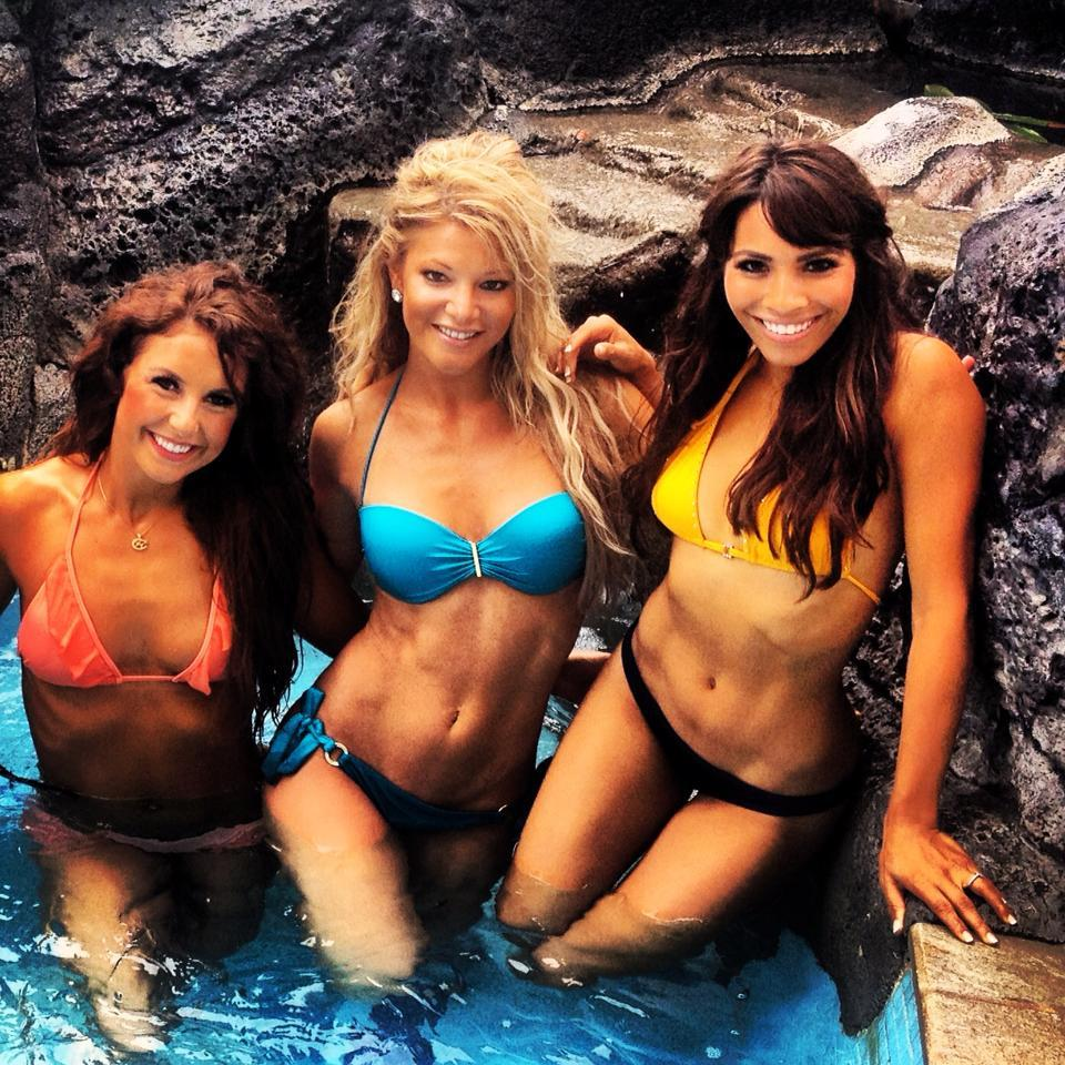 Minnesota Vikings cheerleaders in swimsuits