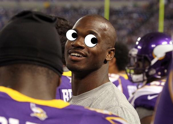 Purple Jesus with Googly Eyes
