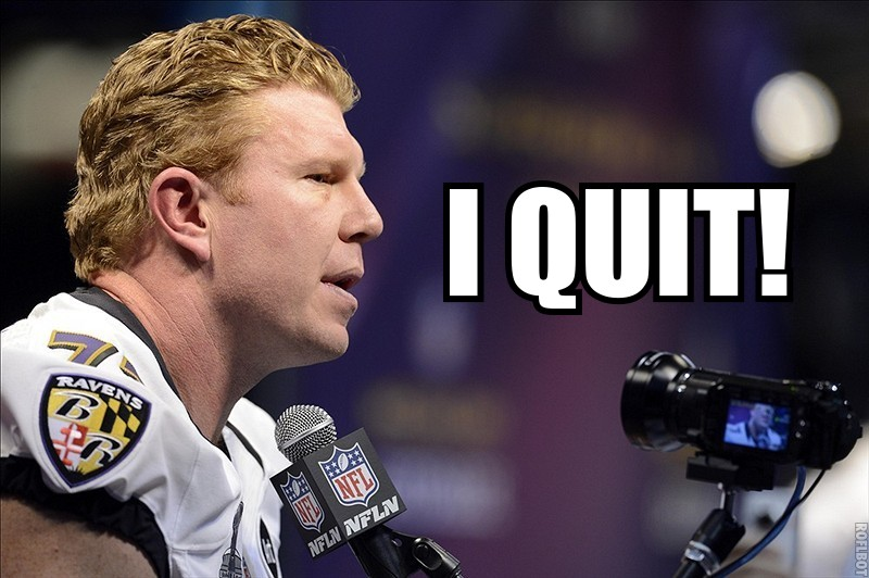 Matt Birk Quits
