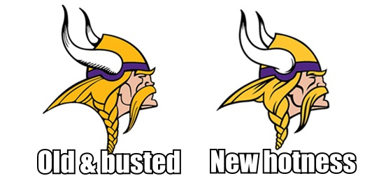 new vikings norseman logo